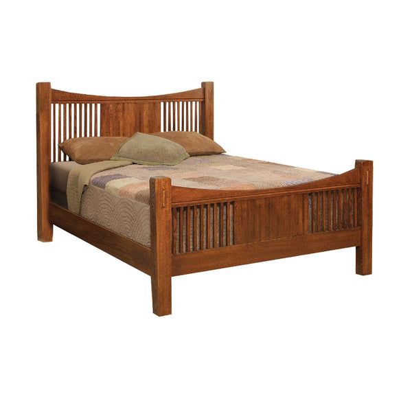 Heartland Quartersawn Oak Bed C - Queen Size - Oak For Less® Furniture