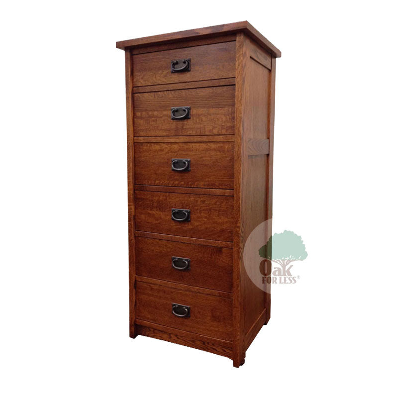 American Mission Quarter Sawn Oak 6 Drawer Lingerie Chest - Oak For Less® Furniture