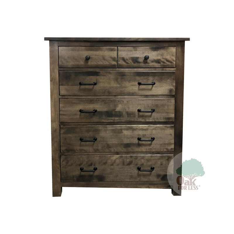 Bench Built 5 Drawer Chest In Birch– Oak For Less® Furniture
