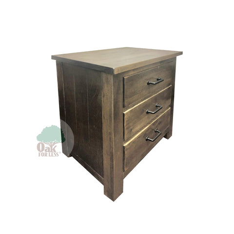 Bench Built 3 Drawer Nightstand in Birch - Oak For Less® Furniture