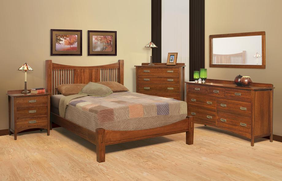 heartland quartersawn oak bedroom suite a queen size. Black Bedroom Furniture Sets. Home Design Ideas
