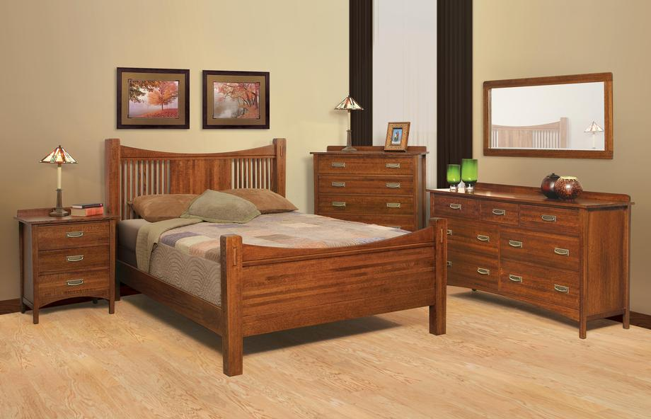 Heartland Quartersawn Oak Bedroom Suite B - Queen Size