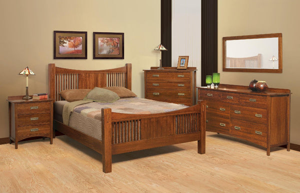 Heartland Quartersawn Oak Bedroom Suite C - Queen Size - Oak For Less® Furniture