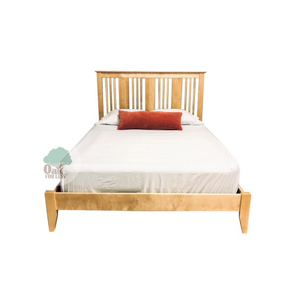 Stratford Solid Birch Bed A - Queen Size - Oak For Less® Furniture
