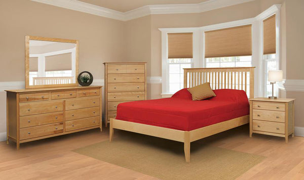Stratford Birch Wood Bedroom Suite B - Queen Size - Oak For Less® Furniture