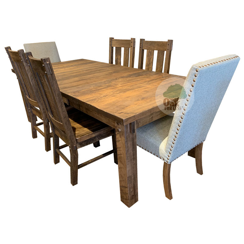 Amish made Houston Leg Table Dining Set - Oak For Less® Furniture