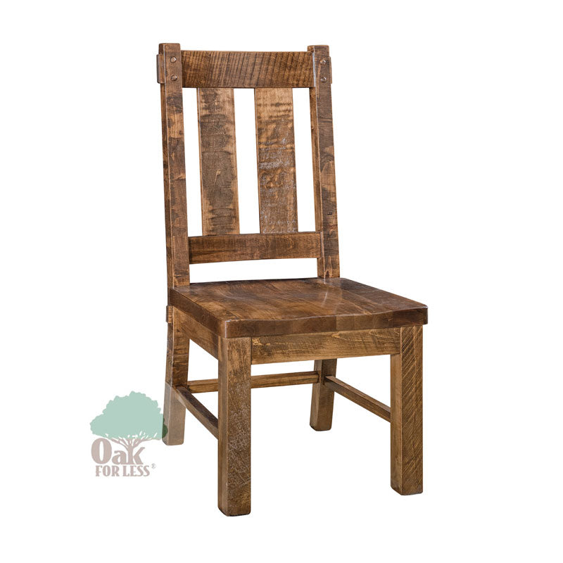 Amish made Houston Solid Wood Side Chair - Oak For Less® Furniture