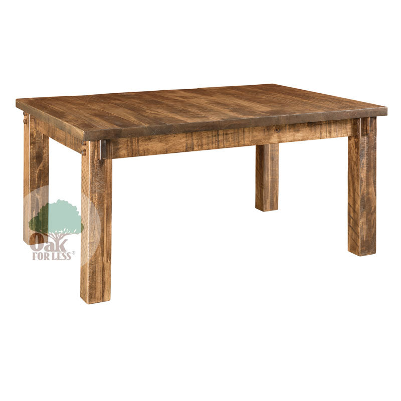 Amish made Houston Leg Table Set in Solid Brown Maple - Oak For Less® Furniture