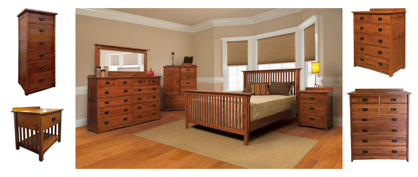 Real wood furniture - made in America - Oak - Cherry - Maple - Elm and more!