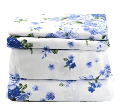 Blue Floral Sheet Set - jaycorner.com