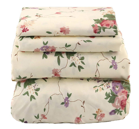 Red & Purple Floral Sheet Set - jaycorner.com