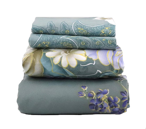 White Floral & Paisley Sheet Set