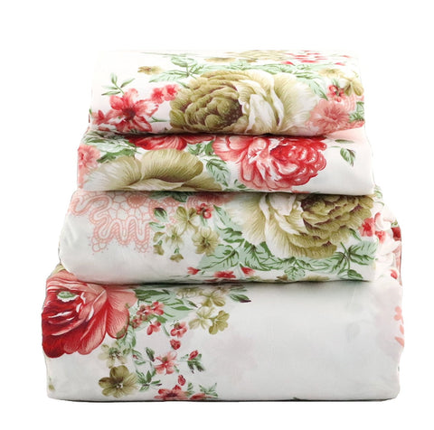 Red Olive Cottage Floral Sheet Set - jaycorner.com