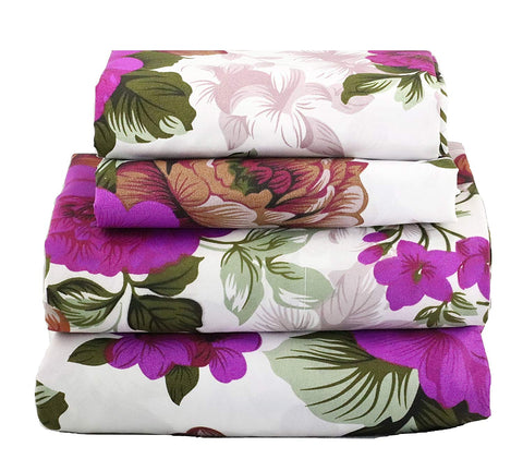 Purple Floral Sheet Set - jaycorner.com