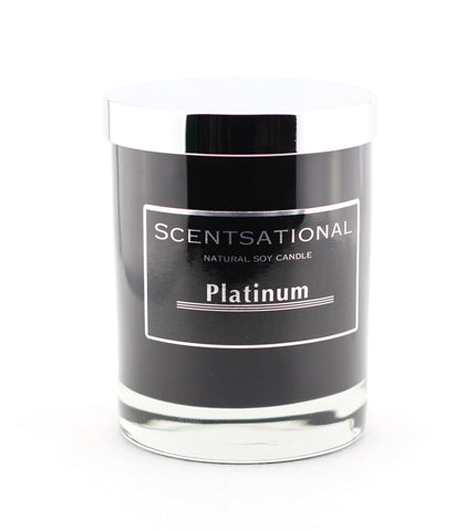 Scentsational Candle Black Jar Platinum