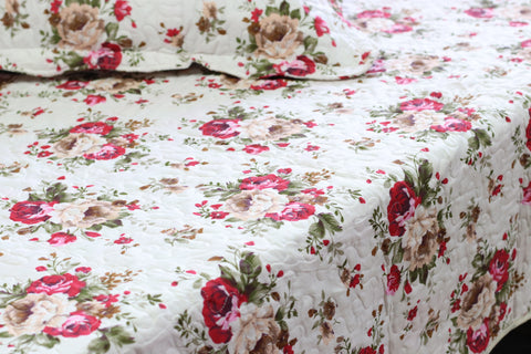 Red Rose Quilt Coverlet - jaycorner.com