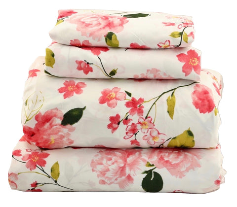 Rose Blossom Floral Sheet Set - jaycorner.com