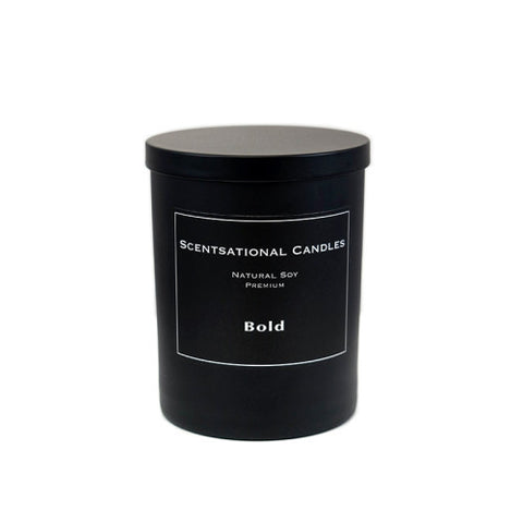 Scentsational Candle Black Jar Bold
