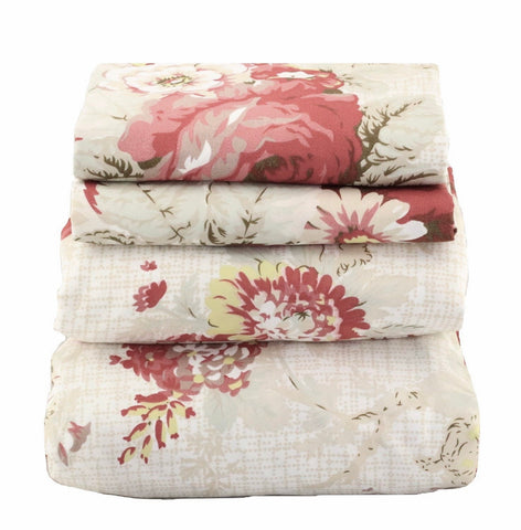 Red & Yellow Floral Sheet Set - jaycorner.com