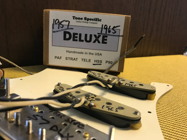 Deluxe HSS Pickups - 1957 / 1965 Set - Best HSS Pickups for Strat.