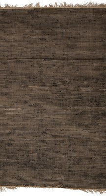 Abaca Jute & Knit Clip Knotted Rugs - Black & Natural