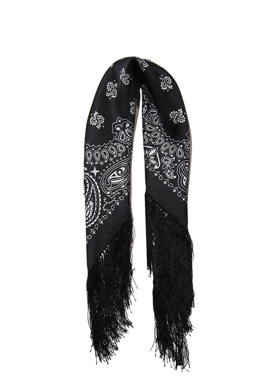 Flare for Fringe Bandana in Black