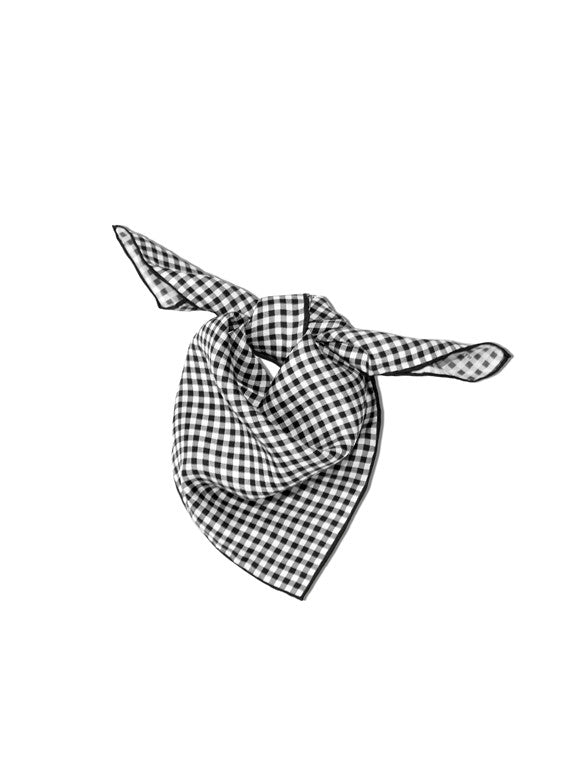 Gingham Neckerchief in Black & White