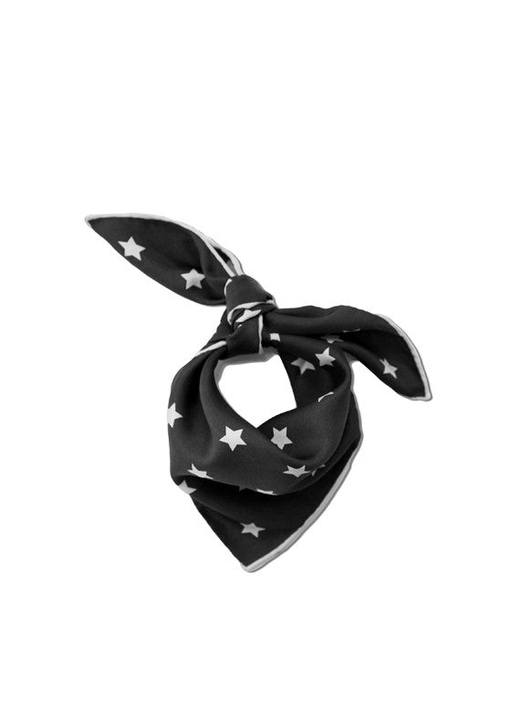 Star Neckerchief in Black