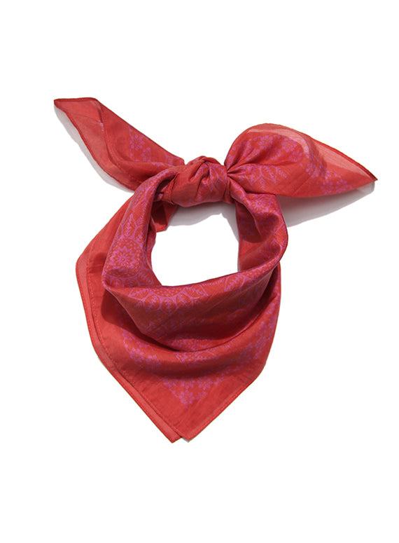 Large Neckerchief - Red & Pink Tribal