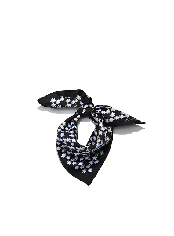 Star Neckerchief - Black & Blue