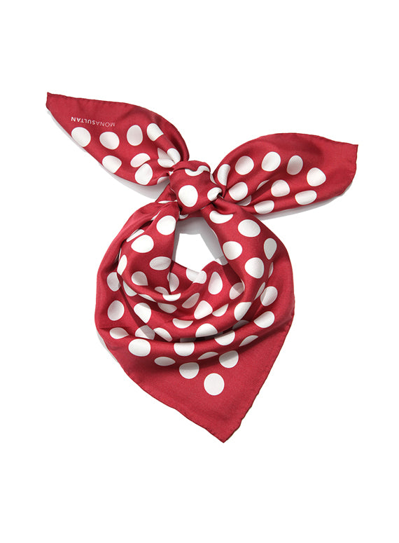 Large Neckerchief - Red Polka Dot