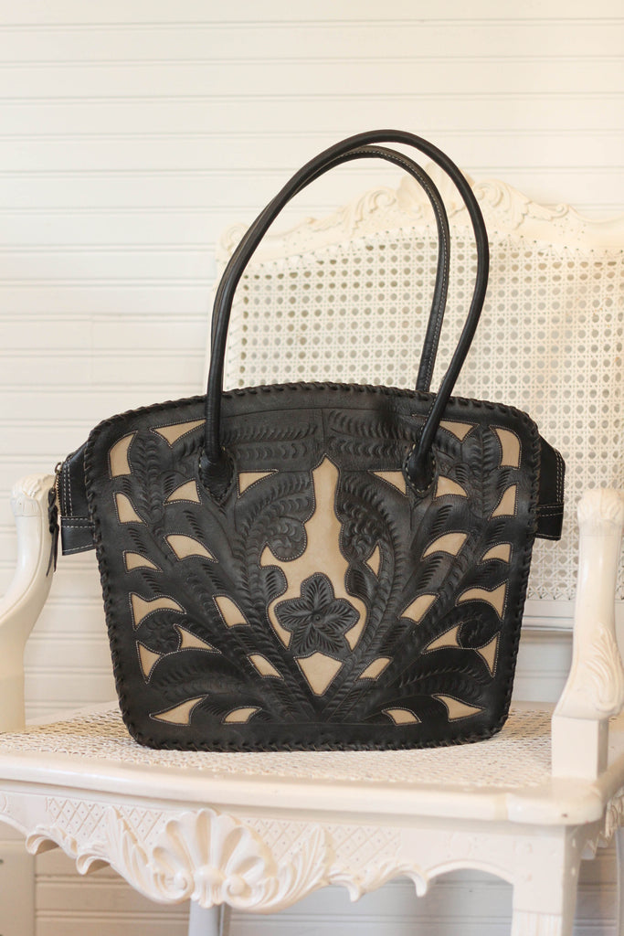 Western Wedge Shoulder Bag | Black