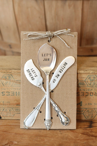 Stamped Spreader Set of 3
