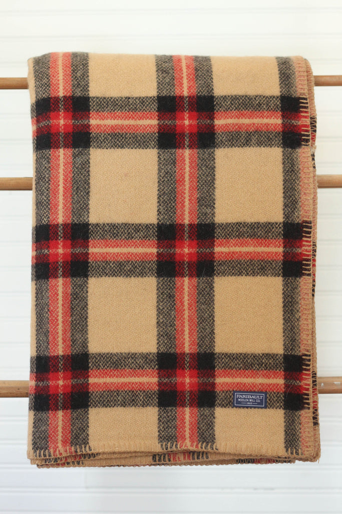 Faribault Woolen Mill Soho Throw | Camel