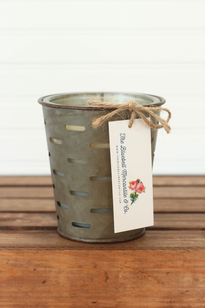 Pound Cake Olive Bucket Candle