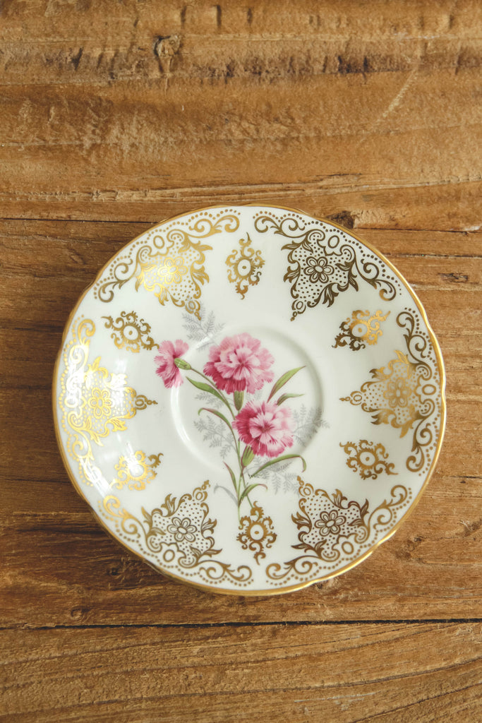 Small Vintage Floral Saucer