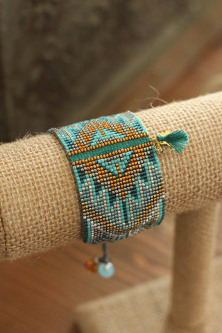 Beaded Bracelet | Turquoise & Copper
