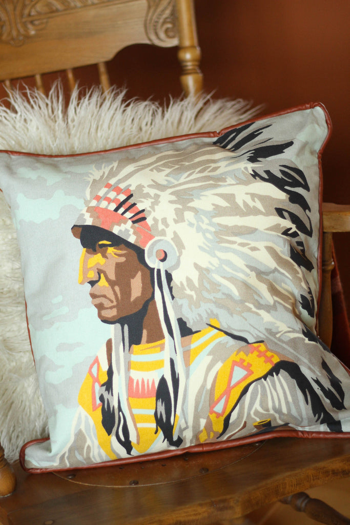 Indian Chief Pillow
