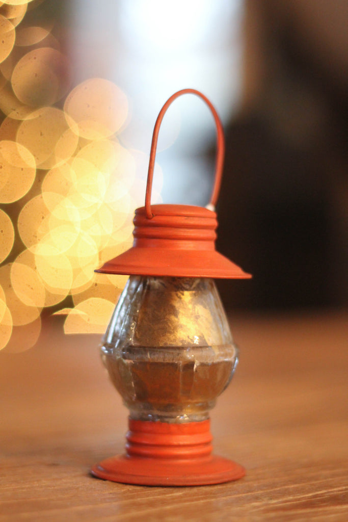 Lumberjack Lantern Ornament | Orange