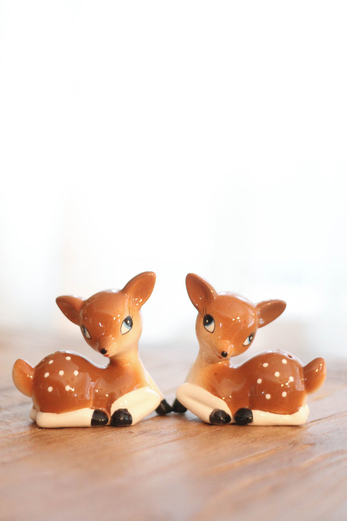 Vintage Reindeer Salt & Pepper Set
