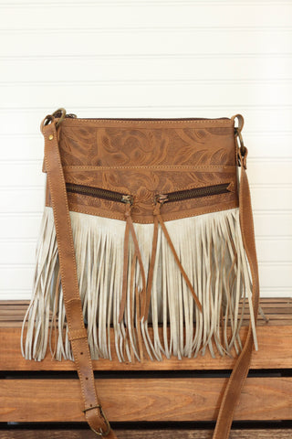 Sherdian Crossbody with Fringe | Natural