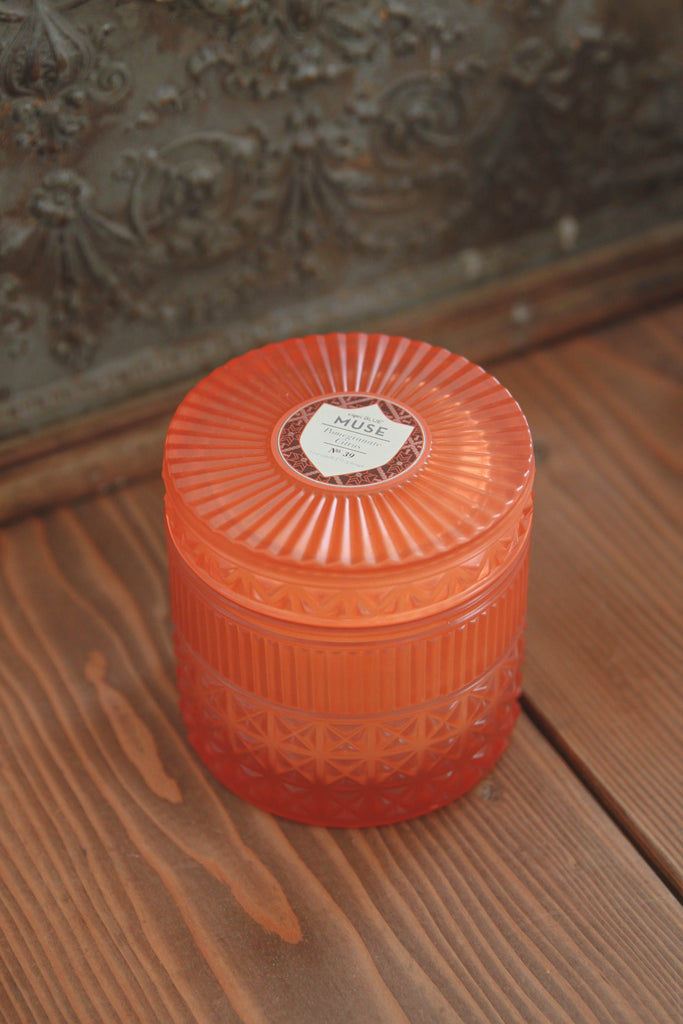 Pomegranate Citrus Faceted Jar Candle