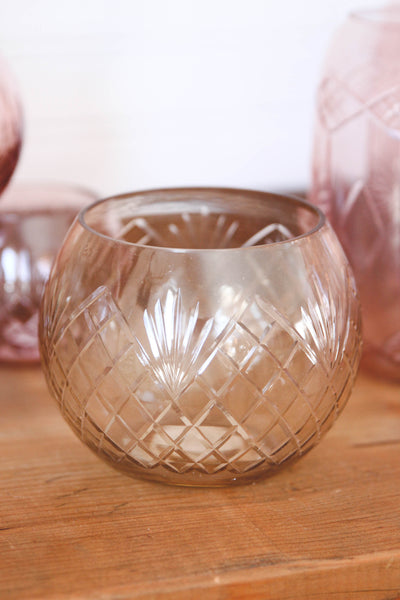 Browned Glass Votive