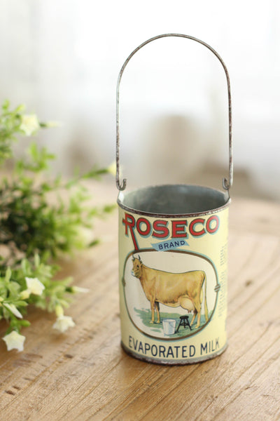 ROSECO Brand Vintage Milk Can | Small