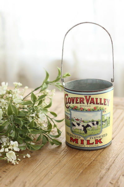 Clover Valley Vintage Milk Can Large The Bluebell
