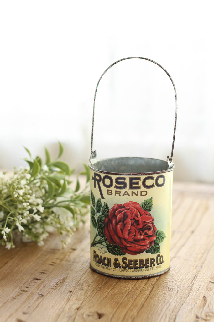 ROSECO Brand Vintage Milk Can | Large