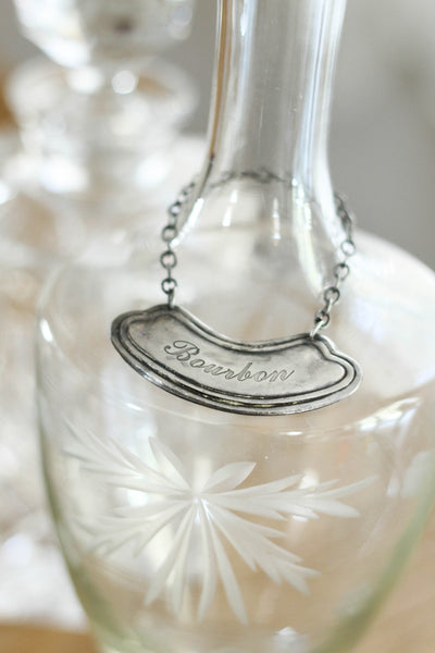 Old Silver Liquor Bottle Tags