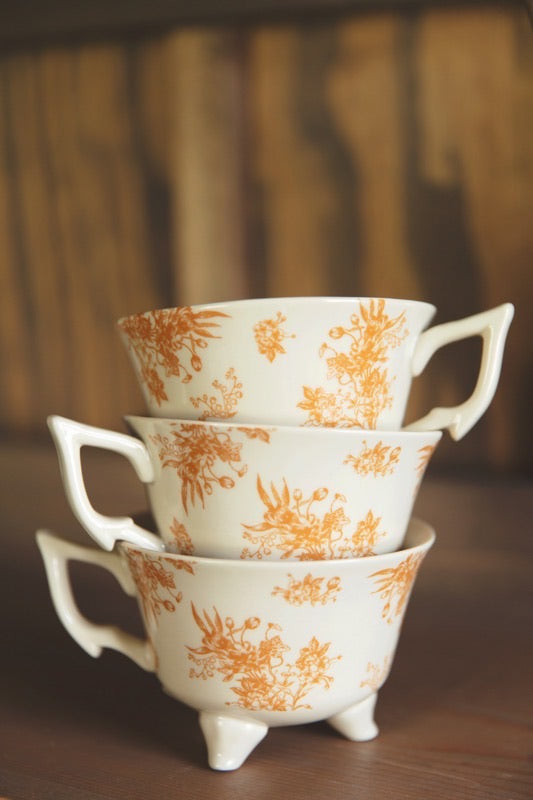 Floral Footed Mug | Marigold