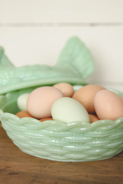 Large Jadeite Hen Covered Dish