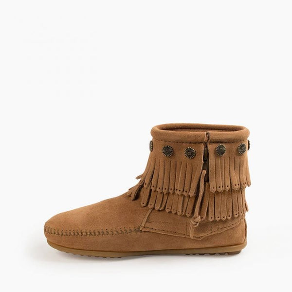 Double Fringe Boot Taupe